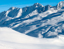 Typické lyžování v Itálii