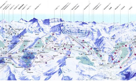 Náhled skimapy areálu Adelboden - Lenk