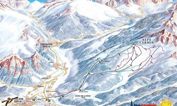 Náhled skimapy areálu Alpe Cermis