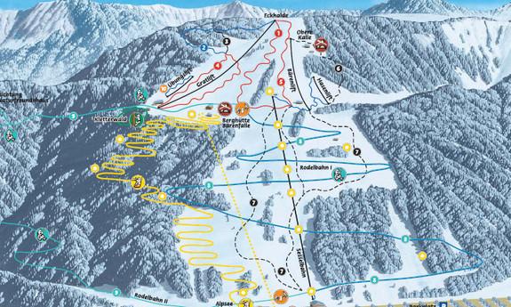 Náhled skimapy areálu Alpsee - Bergwelt