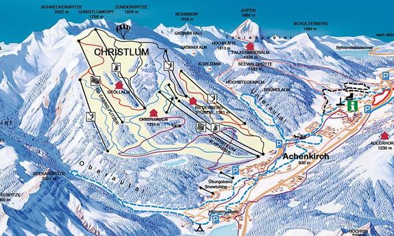 Náhled skimapy areálu Achenkirch / Christlum