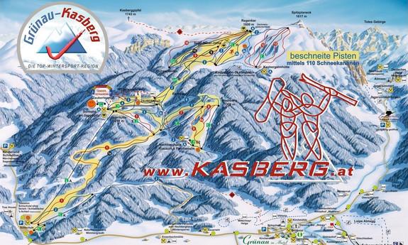 Náhled skimapy areálu Kasberg
