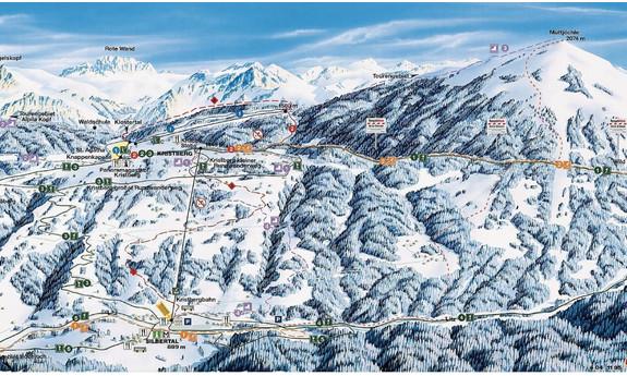 Náhled skimapy areálu Kristbergbahn Silbertal