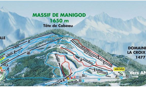 Náhled skimapy areálu La Clusaz - Manigod