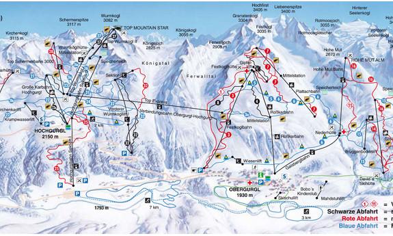 Náhled skimapy areálu Obergurgl / Hochgurgl
