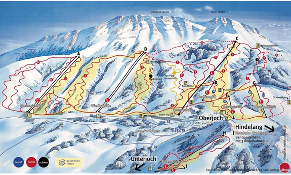 Náhled skimapy areálu Oberjoch - Bad Hindelang