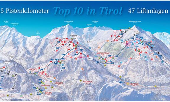 Náhled skimapy areálu Ski Juwel Alpbachtal Wildschönau