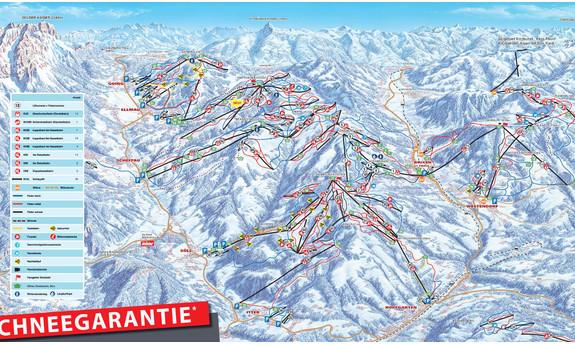 Náhled skimapy areálu SkiWelt Wilder Kaiser - Brixental